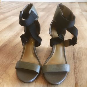 Report Signature Cross Ankle Strap Wedge Heels